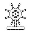 boat ship wheel vector image vector image