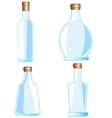 Bottles from glass vector image vector image