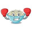 boxing rice bowl character cartoon vector image