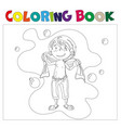 boy in bathroom coloring book vector image vector image