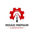 broken road repair logo design vector image vector image