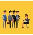 Business job interview concept vector image vector image