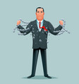 businessman release breaking chains liberation vector image