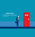 businessman searching for job man standing vector image