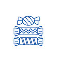 candy line icon concept candy flat symbol vector image
