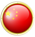 china flag on round badge vector image vector image