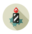 Christmas candle flat icon vector image