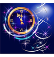 clock and stars vector image