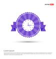 clock icon time icon - purple ribbon banner vector image vector image