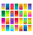 color gradients set vector image