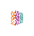 colorful pixel real estate building logo design vector image vector image