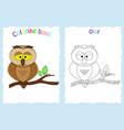 coloring book page for preschool children vector image vector image