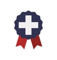 Cross seal stamp medical health care icon vector image