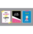 Cute Posters with Trendy Animal vector image