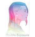 Double Exposure vector image vector image