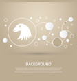 eagle icon on a brown background with elegant vector image