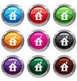 eco house concept set 9 collection vector image vector image