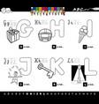 educational cartoon alphabet color book vector image vector image