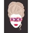 Erotic Marie Antoinette vector image