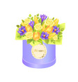 flower bouquet composed by gentle spring flowers vector image vector image