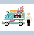 food truck ice cream vector image vector image