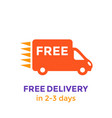 free delivery icon on white vector image