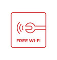 free wifi wi-fi wi fi sign for workshop service vector image
