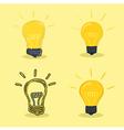 Idea Lamp Yellow Background vector image