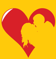 kissing in heart vector image