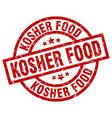 kosher food round red grunge stamp vector image vector image