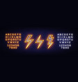 lightning bolt set neon signs design vector image