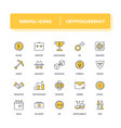 line icons set cryptocurrency vector image vector image
