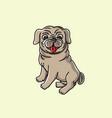 little dog cartoon vector image vector image