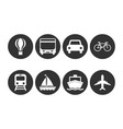 logistics transport vehicle icon vector image vector image