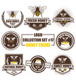 logo collection set with honey theme vector image vector image