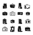 lunchbox food icons set simple style vector image vector image