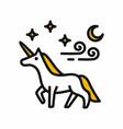 magical unicorn vector image vector image