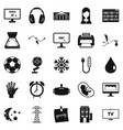 medical application icons set simple style vector image vector image