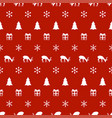merry christmas new year seamless pattern with vector image