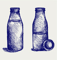 Milk bottle vector image vector image