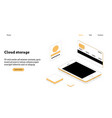modern flat design isometric concept of cloud vector image