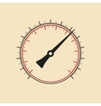 Modern manometer without numbers vector image vector image