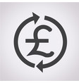 money pound icon gbp currency symbol vector image