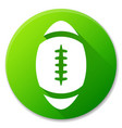 oval ball green circle icon vector image