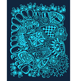 Psychedelic stylized design Winter abstract vector image vector image