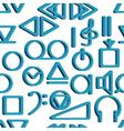 Recorder symbols pattern vector image