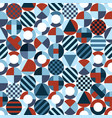 retro circles with geometric shapes seamless vector image vector image