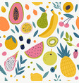 seamless pattern with tangerine vector image vector image