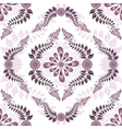 Seamless white pink pattern vector image