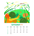September vector image